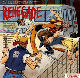 Box cover for Renegade on the Commodore 64.