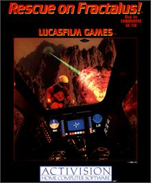 Box cover for Rescue on Fractalus! on the Commodore 64.