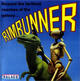 Box cover for Rimrunner on the Commodore 64.