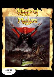 Box cover for Rings of Medusa on the Commodore 64.