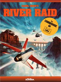 Box cover for River Raid on the Commodore 64.