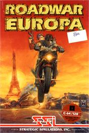 Box cover for Roadwar Europa on the Commodore 64.
