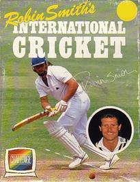 Box cover for Robin Smith's International Cricket on the Commodore 64.