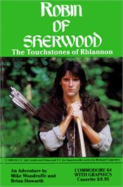 Box cover for Robin of Sherwood: The Touchstones of Rhiannon on the Commodore 64.
