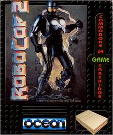 Box cover for RoboCop 2 on the Commodore 64.