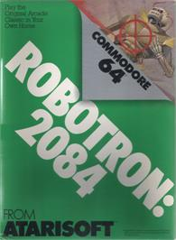 Box cover for Robotron: 2084 on the Commodore 64.