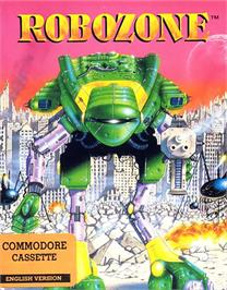 Box cover for Robozone on the Commodore 64.