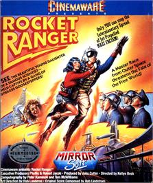 Box cover for Rocket Ranger on the Commodore 64.