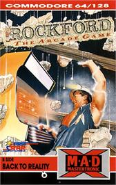 Box cover for Rockford: The Arcade Game on the Commodore 64.