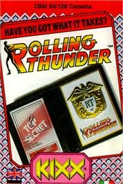Box cover for Rolling Thunder on the Commodore 64.