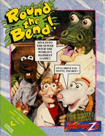 Box cover for Round the Bend! on the Commodore 64.