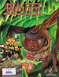 Box cover for Rubicon on the Commodore 64.
