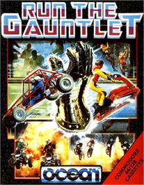 Box cover for Run the Gauntlet on the Commodore 64.