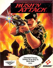 Box cover for Rush'n Attack on the Commodore 64.