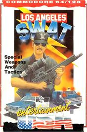 Box cover for SWAT on the Commodore 64.