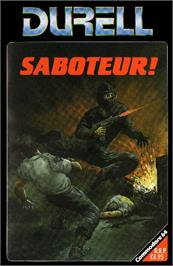 Box cover for Saboteur on the Commodore 64.