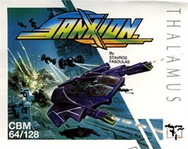 Box cover for Sanxion on the Commodore 64.