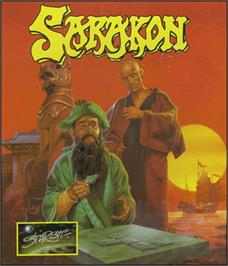 Box cover for Sarakon on the Commodore 64.
