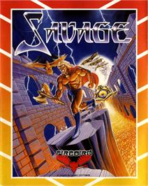 Box cover for Savage on the Commodore 64.