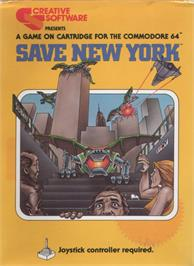 Box cover for Save New York on the Commodore 64.