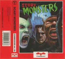 Box cover for Scary Monsters on the Commodore 64.