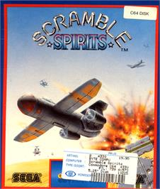 Box cover for Scramble Spirits on the Commodore 64.