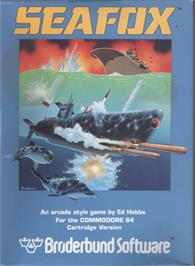 Box cover for Seafox on the Commodore 64.