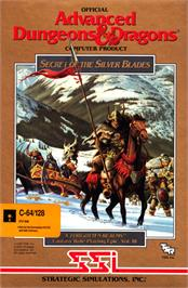 Box cover for Secret of the Silver Blades on the Commodore 64.