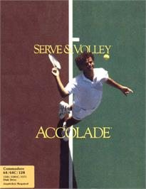 Box cover for Serve & Volley on the Commodore 64.
