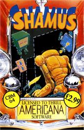 Box cover for Shamus on the Commodore 64.