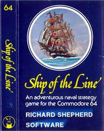 Box cover for Ship of the Line on the Commodore 64.