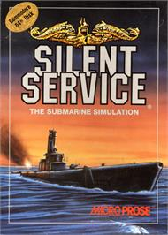 Box cover for Silent Service on the Commodore 64.
