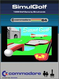Box cover for Simulgolf on the Commodore 64.