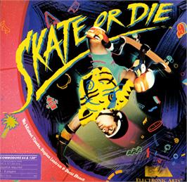 Box cover for Skate or Die on the Commodore 64.