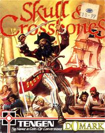 Box cover for Skull & Crossbones on the Commodore 64.