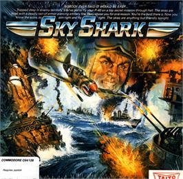 Box cover for Sky Shark on the Commodore 64.