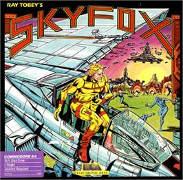 Box cover for Skyfox on the Commodore 64.