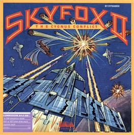 Box cover for Skyfox II: The Cygnus Conflict on the Commodore 64.