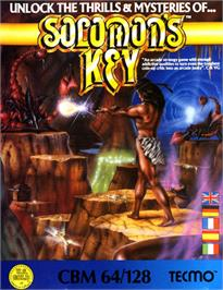 Box cover for Solomon's Key on the Commodore 64.