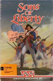 Box cover for Sons of Liberty on the Commodore 64.