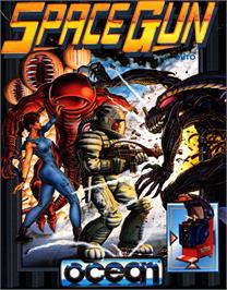 Box cover for Space Gun on the Commodore 64.