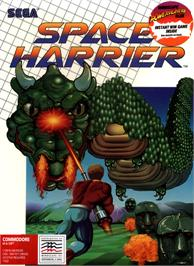 Box cover for Space Harrier on the Commodore 64.