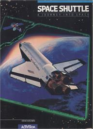 Box cover for Space Shuttle: A Journey into Space on the Commodore 64.