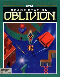 Box cover for Space Station Oblivion on the Commodore 64.