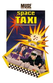 Box cover for Space Taxi on the Commodore 64.