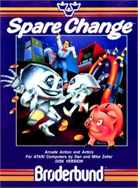 Box cover for Spare Change on the Commodore 64.