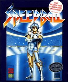 Box cover for Speedball on the Commodore 64.