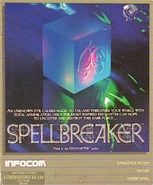 Box cover for Spellbreaker on the Commodore 64.