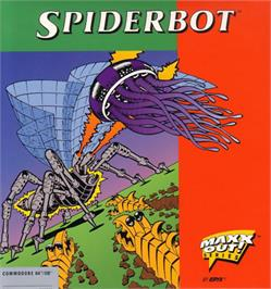 Box cover for Spiderbot on the Commodore 64.