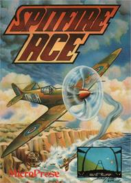 Box cover for Spitfire Ace on the Commodore 64.